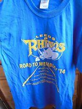 Leeds Rhinos road to Wembley 2014 T-shirt Medium