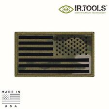IR Tools CID-FLAG-F2001 Infrared IR Flag Patch, Multicam - USA (Reverse)