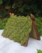 Miniature Dollhouse FAIRY GARDEN Gnome Furniture ~ Resin Green Leaf Tent ~ NEW