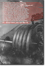 MOTIVATIONAL BODYBUILDING POSTER 4 - QUOTE PHOTO PRINT GIFT MOTIVATION