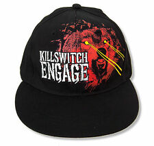 """KILLSWITCH ENGAGE """"WOLF""""  BLACK BASEBALL CAP HAT NEW OFFICIAL OSFM FITTED"""