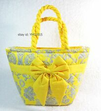 NaRaYa Bag - Thai Small Handbag Yellow Scene and Chrysanthemum