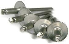 Aluminum POP Rivets Large Flange - 6-4LF, 3/16 x 1/4 Gap (.188 - .250) QTY 50