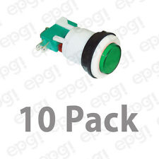 NO/NC NON ILLUMINATED GREEN LENS GAME SWITCH 10AMPS @ 125VAC #GMS8BCG-10PK