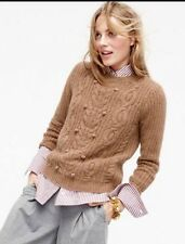 J.Crew Collection 100% Cashmere Sweater with Pom-Poms NWT Size Medium MSRP $355.
