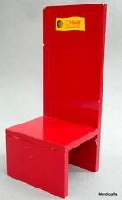 Steiff Logo Chair Teddy Bear Store Display Red Melamine 11in 28 cm 1960s 70s Vtg