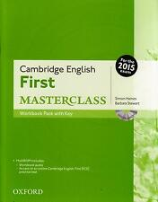 Cambridge FIRST MASTERCLASS Workbook Pack with Key +MultiROM @NEW for 2015 Exam@