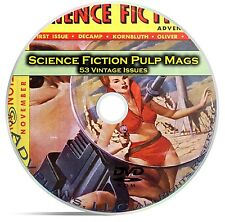 Science Fiction Adventures, Stories, Classic Pulp Magazine, Fiction DVD CD C69