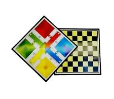 Tablero de ajedrez y parchis de 35 x 35 para 2/4 jugadores casa hogar viajes