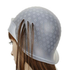 Reusable Silicone Hair Colouring Highlighting Dye Hat Cap Hook Hairdressing Tool