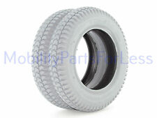 Pair of 3.00-8 Pneumatic Tires - Knobby Tread - Primo Powertrax