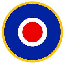 COCARDE RAF GB ROUNDEL TARGET AUTOCOLLANT STICKER 75mm (CA126)