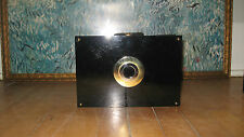 Vintage Black Lucite Mod Deco Clutch Evening Handbag Purse Retro Hollywood Glam