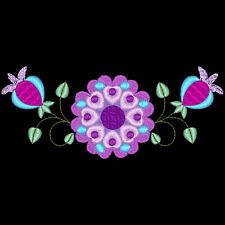 FLORAL BORDERS - 30 MACHINE EMBROIDERY DESIGNS (AZEB)