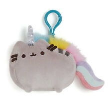 Gund New * Pusheenicorn * Pusheen Cat Clip-On Backpack Plush Kitty Key Chain