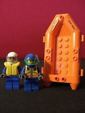 Lego Rescue Boat with 2 Divers / Whitewater River Rafting