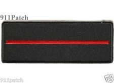 Thin Red Line Firefighter Fire Department Patch - Iron On