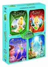 TINKERBELL MOVIES 1-4 COMPLETE DVD BOX SET DISNEY 1 2 3 4 TINKER BELL NEW