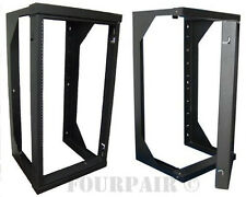 "Wall Mount Swing Out Gate Network IT Steel Cabinet Data Rack - 25U - 18"" Depth"