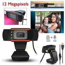 HD 12 Megapixels USB 3 LED Webcam Camera With Mic Clip-on for Computer Laptop PC