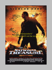 "NATIONAL TREASURE X3 PP SIGNED POSTER 12""X8"" CAGE"