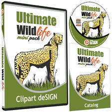 WILDLIFE-ANIMAL CLIPART-VINYL CUTTER PLOTTER IMAGES-VECTOR CLIP ART GRAPHICS CD