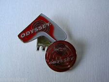 Golf Ball Marker Hat Clip ODYSSEY Red Headcover -Japan
