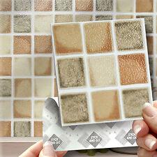 18 Stick & Go Farmhouse Mosaic Kitchen Stick On Wall Tiles Kitchens or Bathrooms
