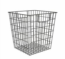 NEW Black Wire Storage Cube Basket PERFECT Tidy Home Toy Solution Metal ANY ROOM