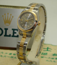ROLEX STAINLESS & GOLD WOMENS AUTOMATIC OYSTER PERPETUAL WATCH Ref. 76183 C '99