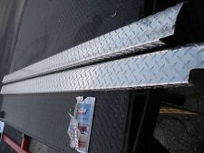 Ford F-Series Brite Alum Diamond Plate Bed Rail Caps 8' 1980-1996 DeeZee 21999