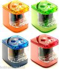 Desk Top Pencil Sharpener Double Hole Battery Operated Electric Sharpner Jakar