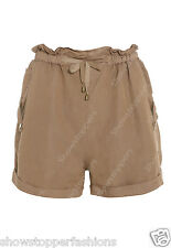New Women's Shorts Stone Khaki Mocha Size 8 10 12 14 Hot pants short Casual