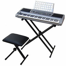 Clavier DynaSun MK939 MIDI LCD 61 Touches Pitch Bend Piano Keyboard + Stand Banc