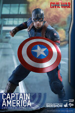 Hot Toys Captain America 1/6 Scale Figure Civil War Steve Rogers Chris Evans