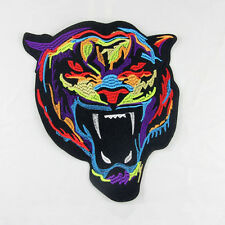 1 X DIY Clothing Patch Iron on Sew Badge Tiger Shape Applique Embroidery