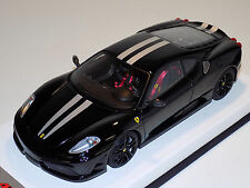 1/18 Looksmart MR Ferrari F430 Scuderia Nero DS 1250 Silver Stripes Black Wheels