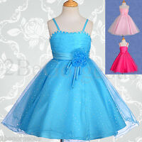 Dresses Wedding Flower Girl Bridesmaid Communion Party Occasion Age 2-12 yrs 120