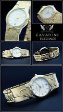 ORIGINAL NOBLE CAVADINI WATCH WITH BOX & ISSUES HARD GOLD PLATED DESIGNER WATCH