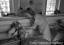 Woman Washing with Oxydol & a Ringer Washer - 1942 - Historic Photo Print
