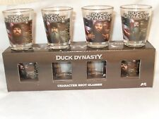 Duck Dynasty (4) Character Shot Glasses-Si, Jase, Willie, Phil-Authentic A&E-NIB