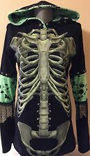 DiY-Ribcage Hoodie-Horror-Goth-Rock-Unique-Regular or 1X Plus Size