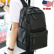 Unisex Vintage Backpack Travel Leather Handbag Rucksack Shoulder School Bag USPS