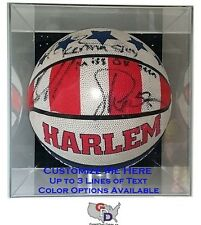 Custom Basketball Display Case Acrylic Wall Mount Create Your Text and Color