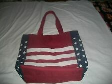 American Flag Tote Bag LINED Beach Patriotic CARRY-ALL/GROCERY'S/POOL/SHOPPING