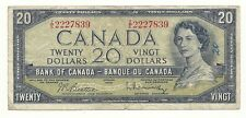 1954 MODIFIED CANADA TWENTY DOLLAR BANK NOTE