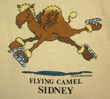 FLYING CAMEL lrg tee Sidney ice-skating beat-up T shirt 1980s Up In The Air