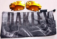 OAKLEY GENUINE JAWBONE/RACING JACKET FIRE IRIDIUM  LENSES