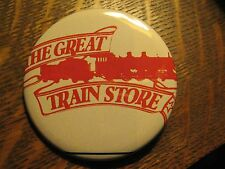 The Great Train Store Model Railroad Hobby Logo Advertisement Lapel Button Pin