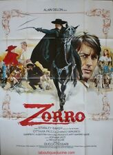 ZORRO Affiche Cinéma ORIGINALE / Movie Poster ALAIN DELON 1975